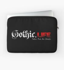 Gothic.Life Black (with tagline) Laptop Sleeve