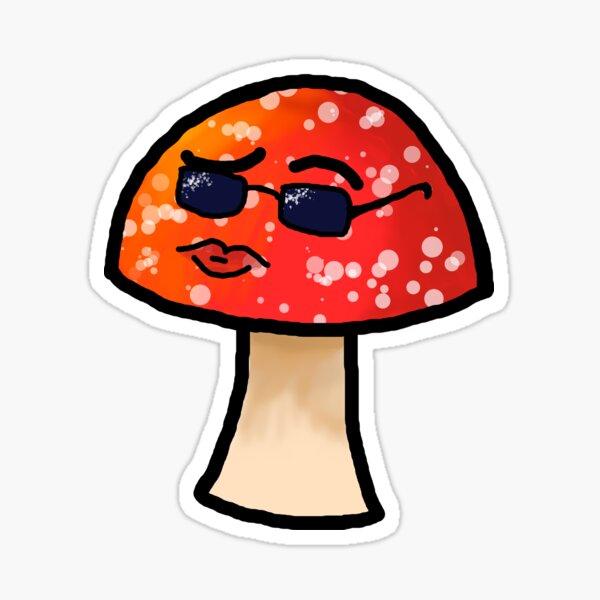 Smoldering Mushroom Sticker