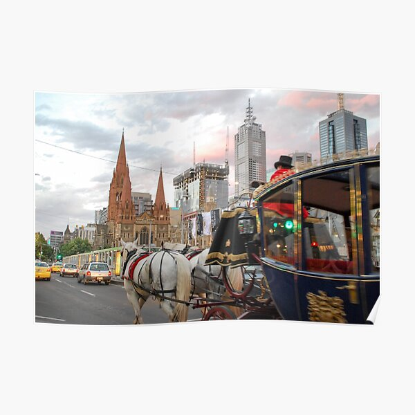 Coach in Swanston Street, Melbourne - Our Cinderella Moment Poster