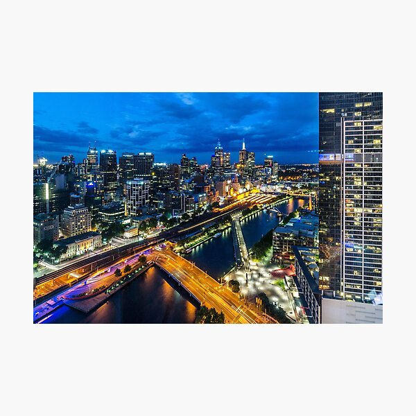 Bird's Eye View of Melbourne Photographic Print