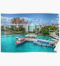 Atlantis and Harbor Village in Paradise Island, Nassau, The Bahamas Poster