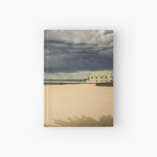 STORM APPROACHING OVER ALBERT PARK BEACH Hardcover Journal