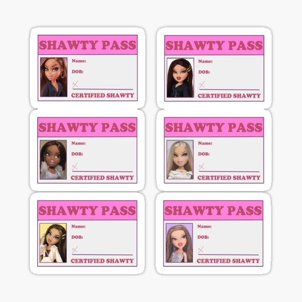 Shawty Pass Template Sticker Pack Sticker