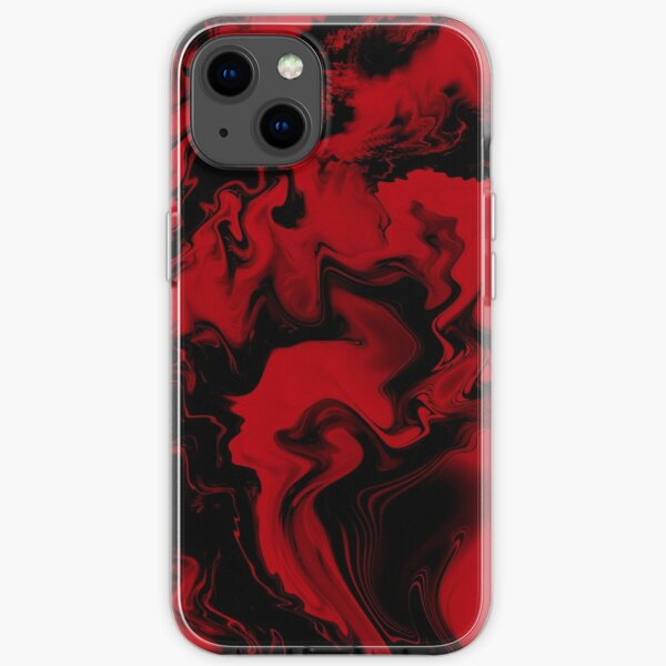 Black and red iPhone Soft Case