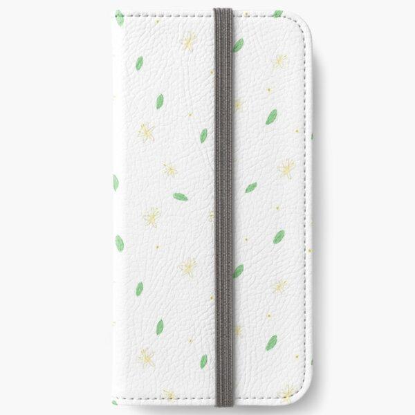Jasmine Flowers Pattern iPhone Wallet
