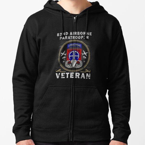 82nd Airborne Paratrooper Veteran T-shirt Men Women T-Shirt Zipped Hoodie