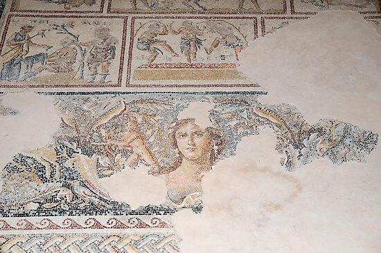 Dionysus Mosaic Mona Lisa of the Galilee by PhotoStock-Isra