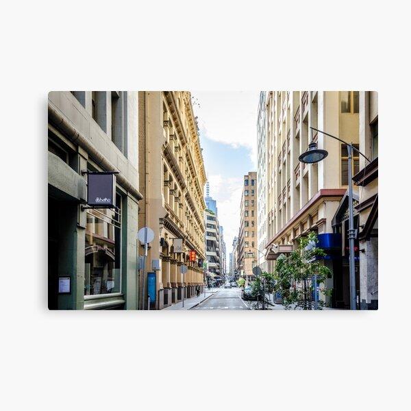 CITYSCAPE - FLINDERS LANE, MELBOURNE Canvas Print