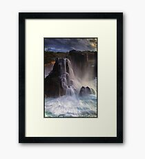 Boneyard Falls Framed Print