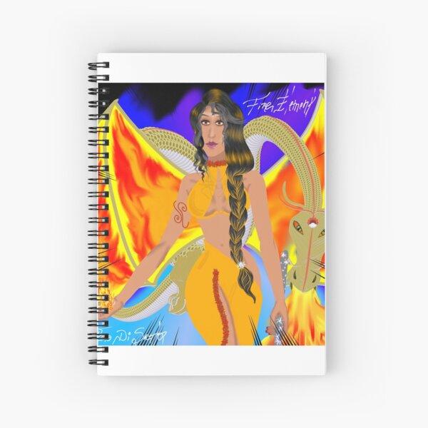THE QUEEN OF FIRE ELEMENT Spiral Notebook