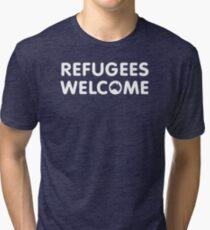 Refugees Welcome Australia (White) Tri-blend T-Shirt