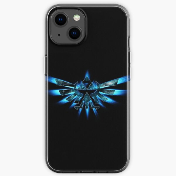 Triforce of Mut Fall in blau. iPhone Flexible Hülle
