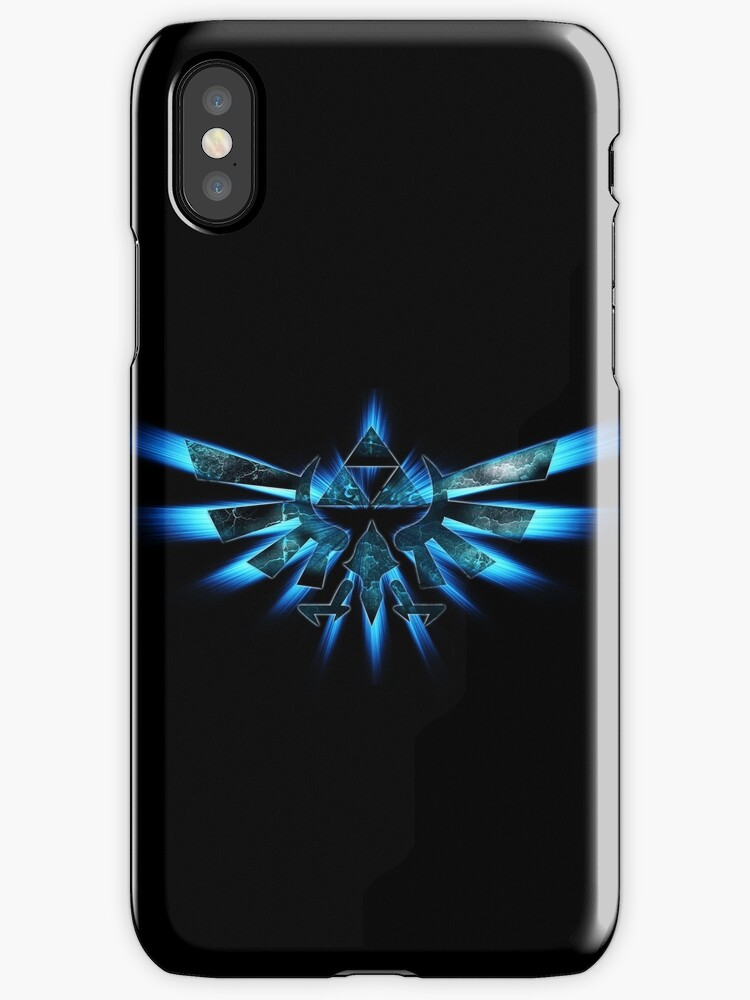 Triforce Of Courage - Blue iPod/Phone case. by iPinkly