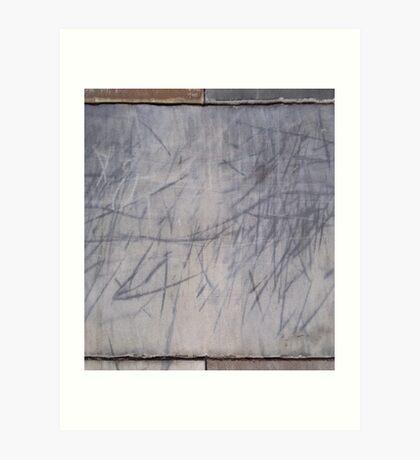 Marked stone #1 Art Print