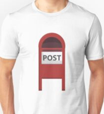 Red Post box Unisex T-Shirt