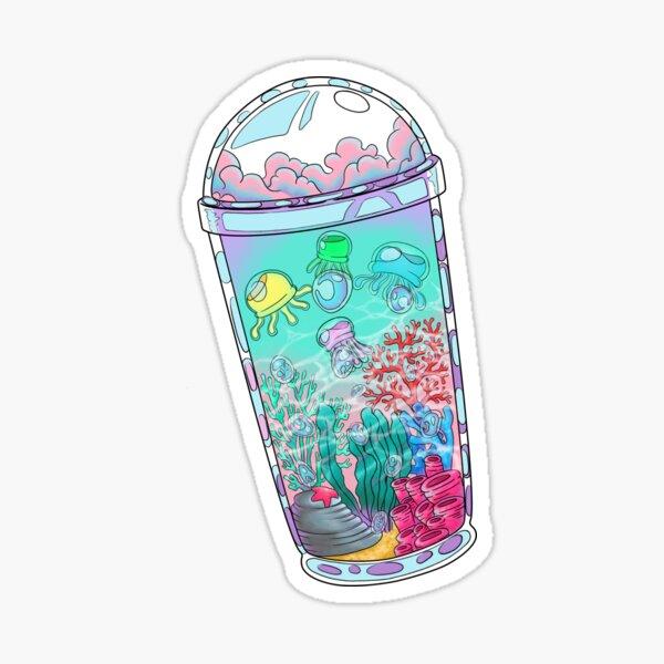 Unterwasser Bobba Drink Sticker