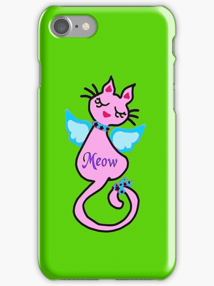 ღ°㋡Swanky-Angelic Cat Splendifereous iPhone & iPod Cases ㋡ღ° by Fantabulous