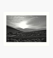 B&W into the sunset Art Print
