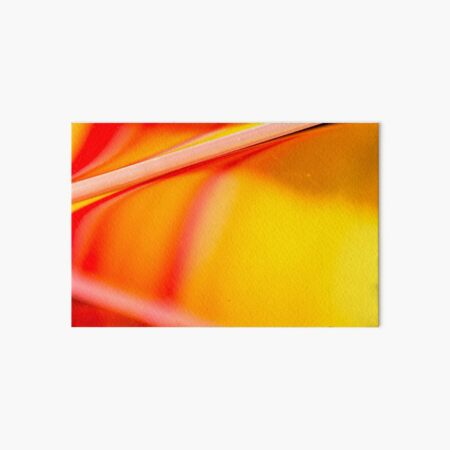 Orange and Yellow Oil and Water Art Board Print