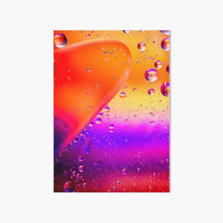 Orange and Purple Oil and Water Art Board Print