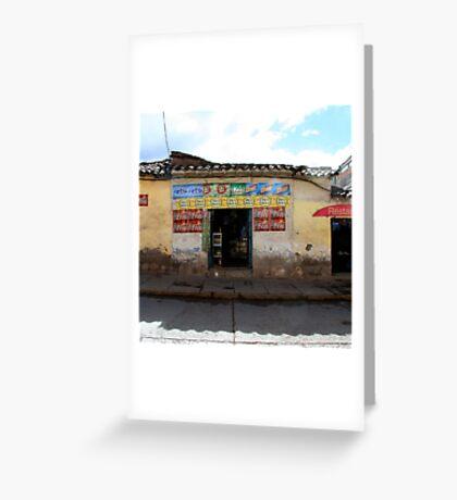 General Store, Cuzco Peru Greeting Card
