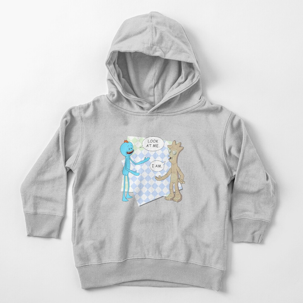 Rick and Morty's Mr. Meeseeks meets Gaia's child. Dark variant. Toddler Pullover Hoodie