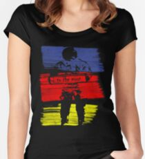astro stripe Women's Fitted Scoop T-Shirt