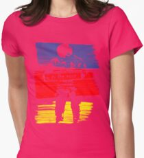 astro stripe Womens Fitted T-Shirt