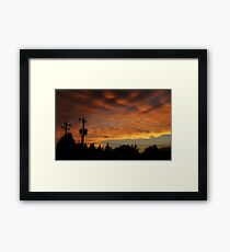 Cross Stitching In The Sky Framed Print