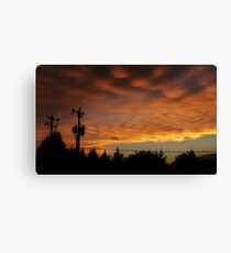Cross Stitching In The Sky Canvas Print