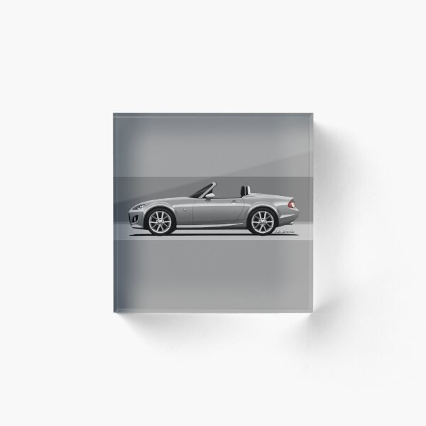 My drawing of the NC2 RC PRHT roadster convertible classic sports car with silver rims Acrylic Block