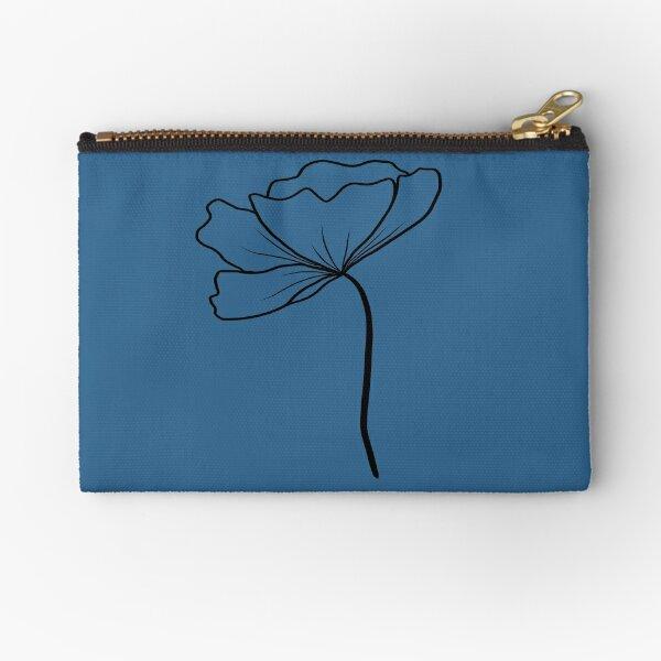 Floral Motif Zipper Pouch