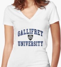 Gallifrey University Women's Fitted V-Neck T-Shirt