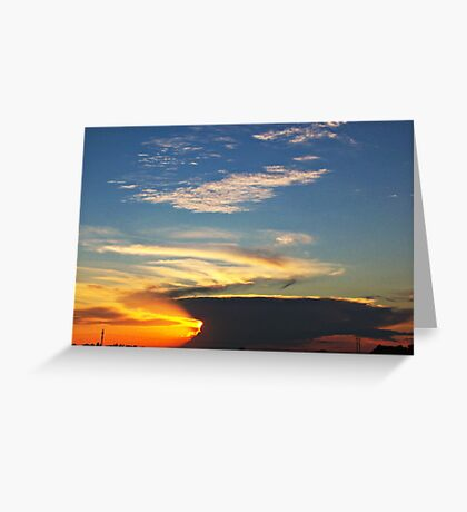Dark Horizon Greeting Card
