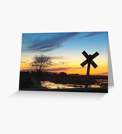 Twilight Crossing Greeting Card