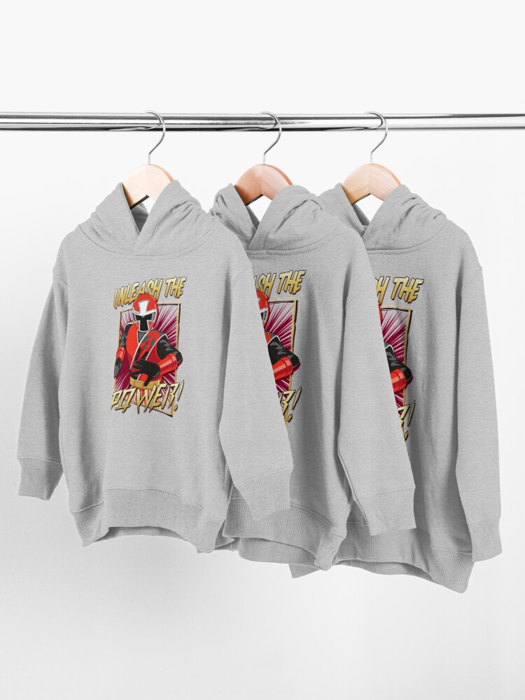 Alternate view of Red Ranger Unleashed Toddler Pullover Hoodie