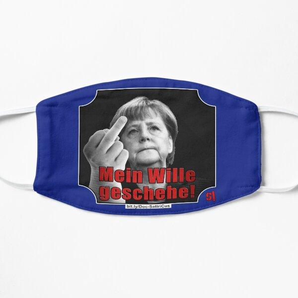 MERKEL: MEIN Wille geschehe!   Stinkefinger Flache Maske
