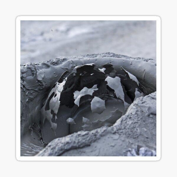 Mud bubble bursting in mud volcano Sticker