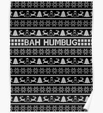 Bah Humbug Christmas Jumper Poster