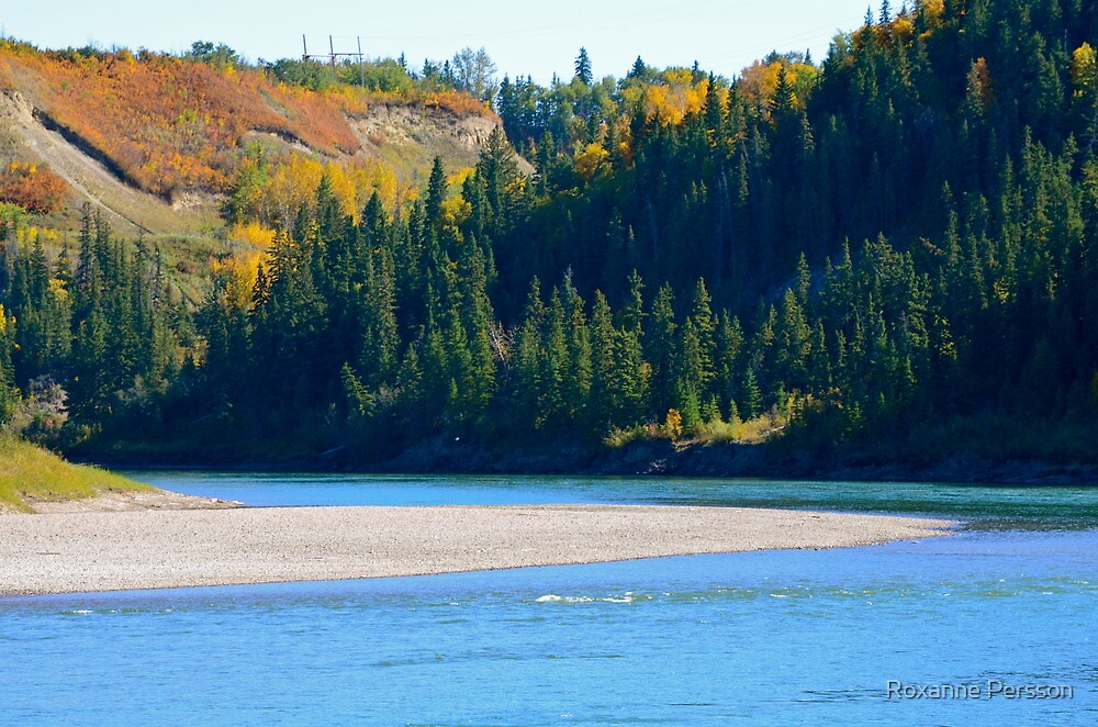 Autumn - North Saskatchewan River by Roxanne Persson