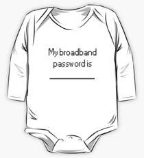 My Broadband Password Long Sleeve Baby One-Piece