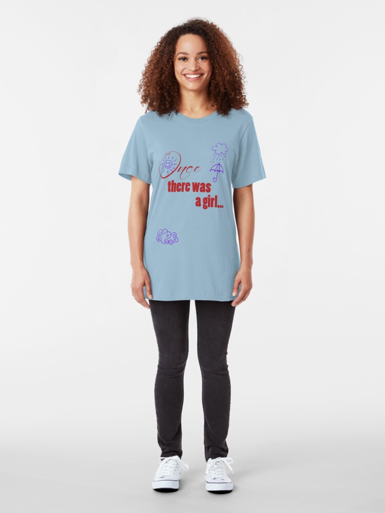 Alternate view of Once There Was A Girl - Embellished with Weather  Slim Fit T-Shirt