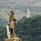 Robert the Bruce and the Wallace Monument by Irina Chuckowree