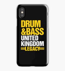 Drum & Bass United Kingdom Legacy  iPhone Case