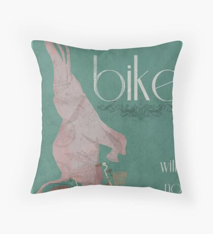 I Can Ride My Bike With No Hands Throw Pillow