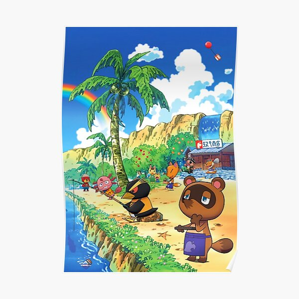 Animal Crossing New Horizons Summer Time Poster
