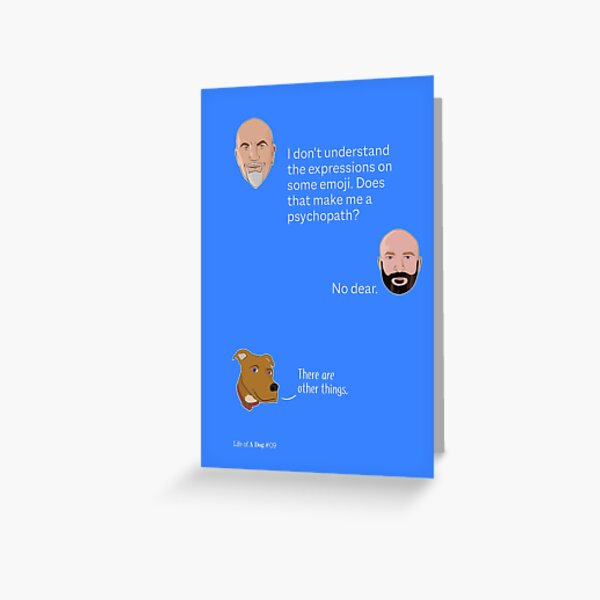 Self Doubt Associated With Emoji Greeting Card