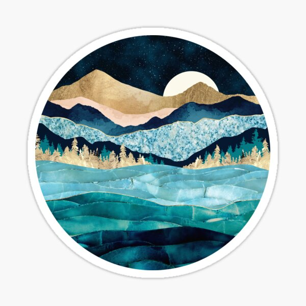 Midnight Ocean Sticker