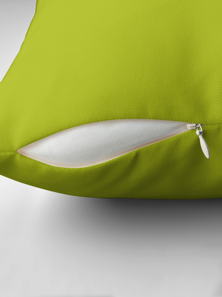 Alternate view of PLAIN SOLID ACID GREEN - 100 SHADES OF GREEN ON OZCUSHIONS  Throw Pillow