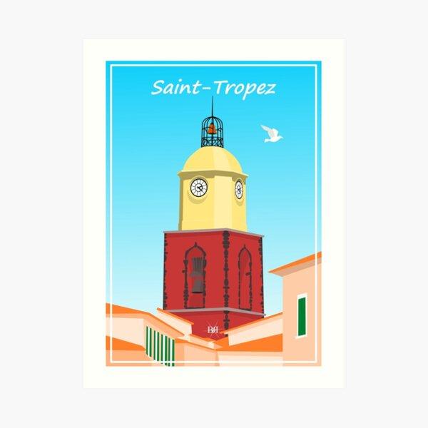The Bell Tower of Saint-Tropez Art Print